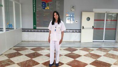 Susana Clavero, enfermera del Hospital de Poniente. DAVINIA PIQUERAS