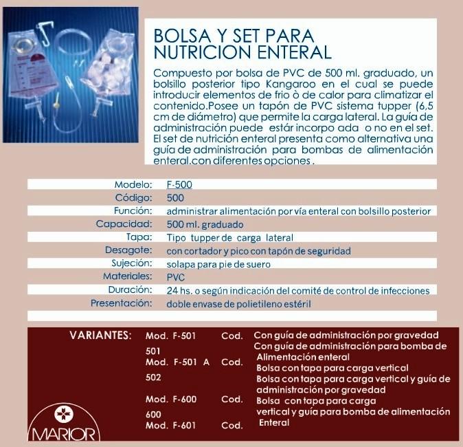 Bolsa y Set para Nutrición enteral. Dealer Medica (5)